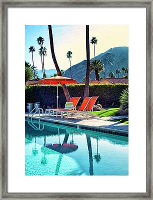 Water Waiting Palm Springs Framed Print by William Dey