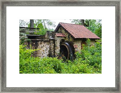 Water Wheel - Eastern College Framed Print by Bill Cannon