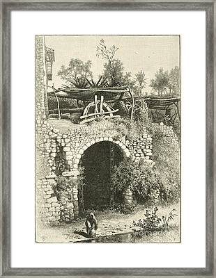 Water Wheel In Egypt, 1880s Framed Print by Dorot Jewish Division