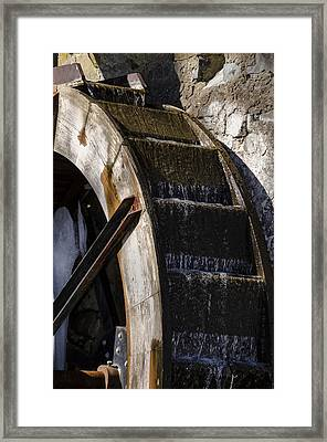 Water Wheel Mill -  Eastern College Framed Print by Bill Cannon
