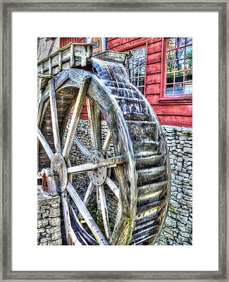 Water Wheel On Mill Framed Print by John Straton