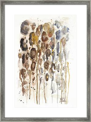 Watercolor Animal Skin I Framed Print by Patricia Pinto
