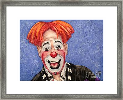 Watercolor Clown #7 Ryan Combs Framed Print by Patty Vicknair