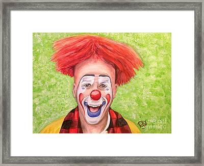 Watercolor Clown #8 Steve Copeland Framed Print by Patty Vicknair