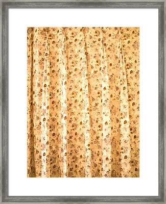 Watercolor Of Floral Pattern Curtain Background Framed Print by Ammar Mas-oo-di