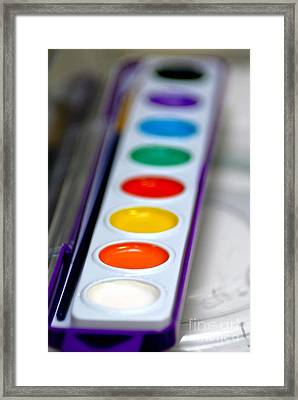 Painted Framed Print featuring the photograph Watercolor Paint Set by Amy Cicconi