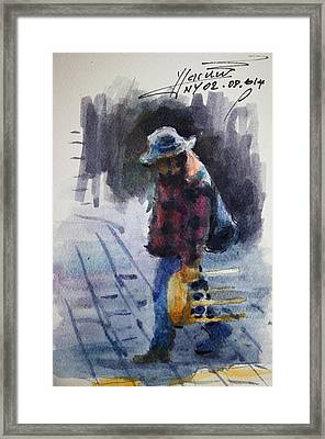 Watercolor Sketch Framed Print by Ylli Haruni