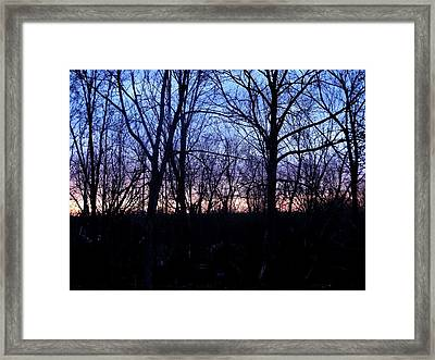 Watercolor Sunset Framed Print by Suzanne Perry