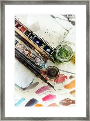 Watercolors Framed Print by Jill Battaglia