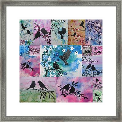Watercolour Birds Framed Print by Cathy Jacobs