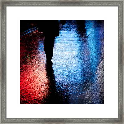 Times Square Watercolours Framed Print by Dave Bowman