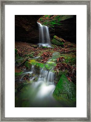 Frankfort Mineral Springs Waterfall  Framed Print by Emmanuel Panagiotakis
