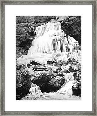 Waterfall Framed Print by Aaron Spong
