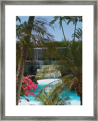 Waterfall Framed Print by Athala Carole Bruckner