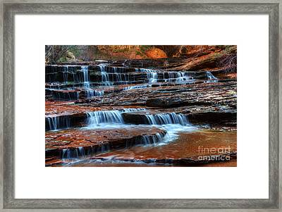 Waterfall Cascade North Creek Framed Print by Bob Christopher