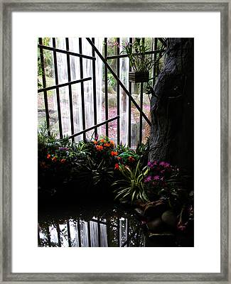 Waterfall Color Framed Print by Warren Thompson