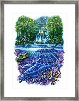 Waterfall Fantasy Framed Print by Larry Taugher