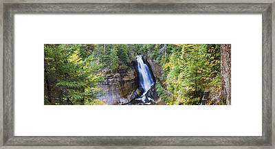 Waterfall In A Forest, Miners Falls Framed Print by Panoramic Images