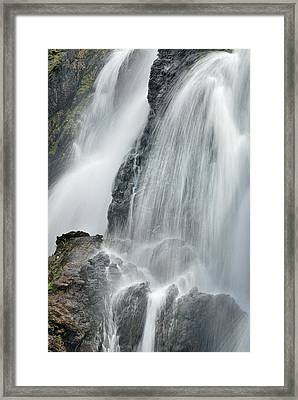 Waterfall In Spring Framed Print by Guido Montanes Castillo