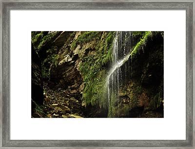 Waterfall Framed Print by Mariusz Zawadzki