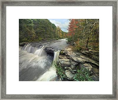 Waterfall Mulberry River Arkansas Framed Print by Tim Fitzharris