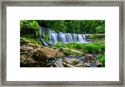 Waterfall Of Keila Framed Print by Mario Mesi