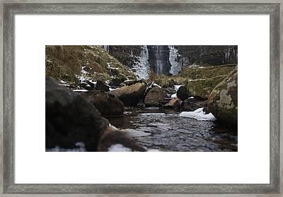 Waterfall Framed Print by Riley Handforth