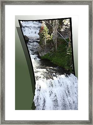 Waterfall Framed Print by Shane Bechler
