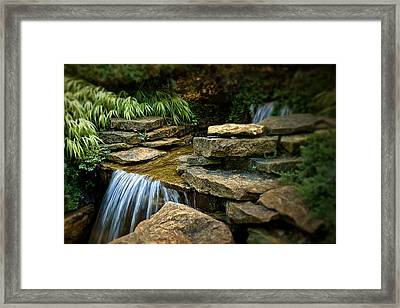 Waterfall Framed Print by Tom Mc Nemar