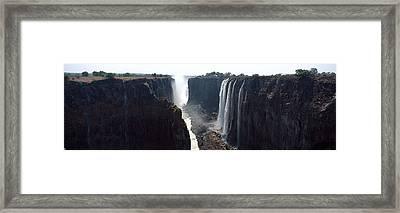 Waterfall, Victoria Falls, Zambezi Framed Print by Panoramic Images