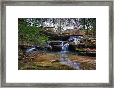 Waterfalls Cascading Framed Print by Douglas Barnett
