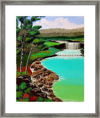 Waterfalls Framed Print by Cyril Maza