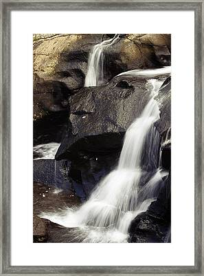 Waterfalls Framed Print by Les Cunliffe