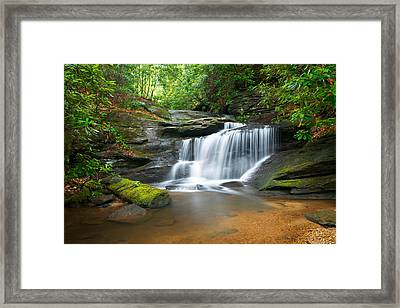 Waterfalls - Wnc Waterfall Photography Hidden Falls Framed Print by Dave Allen