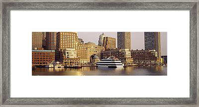 Waterfront, Boston, Massachusetts, Usa Framed Print by Panoramic Images