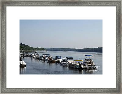 Waterfront Park Bath Maine Framed Print by Christiane Schulze Art And Photography