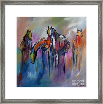 Watering Hole Framed Print by Cher Devereaux