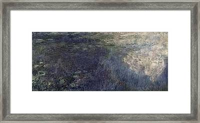 Waterlilies, The Clouds Framed Print by Claude Monet