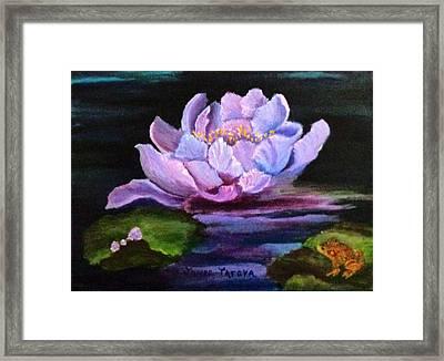 Waterlillie Framed Print by Janis  Tafoya