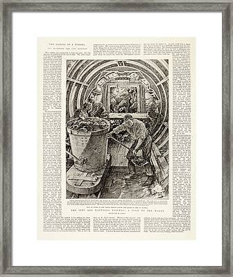 Waterloo And City Line Construction Framed Print by British Library