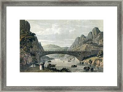 Waterloo Bridge Over The River Conwy Framed Print by English School
