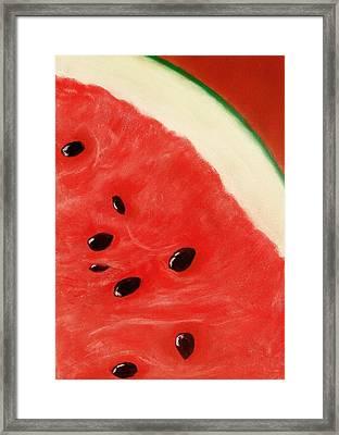 Watermelon Framed Print by Anastasiya Malakhova