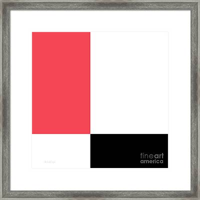 Watermelon And Seeds Square Framed Print by Andee Design