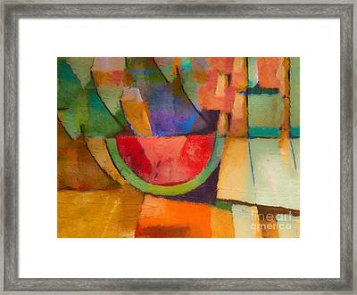 Watermelon Framed Print by Lutz Baar