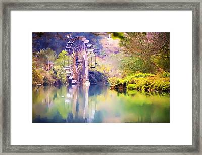 Watermill In Yunnan 1 Framed Print by Lanjee Chee