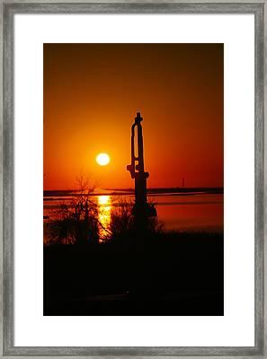 Waterpump In The Sunrise Framed Print by Jeff Swan
