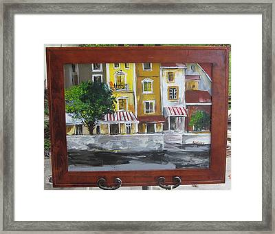 Waterway Shops Framed Print by Lana McCullars
