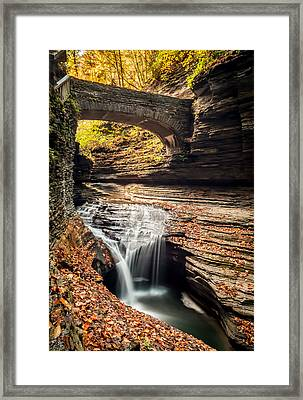Watkins Glen Gorge Framed Print by Gary Fossaceca