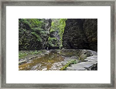Watkins Glen Gorge Framed Print by Frozen in Time Fine Art Photography