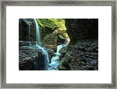 Watkins Glen Waterfalls Framed Print by Adam Jewell